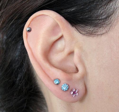 Ohrringe 3 löcher